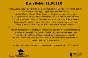 MAQUETTE Plaque E. ROBIN 390X330